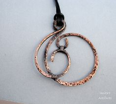 Hammered Copper pendant by Ianira on Etsy