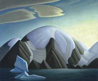 """""""North Shore, Baffin Island II,"""" Lawren S. Harris, ca. oil on canvas, 41 x National Gallery of Canada. Canadian Painters, Canadian Artists, American Artists, Tom Thomson, Ontario Art Gallery, Emily Carr Paintings, Art Inuit, Lauren Harris, Group Of Seven Paintings"""