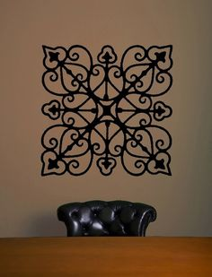 wrought iron pattern - could do this on the walls in an either slightly lighter/darker shade or a different finish