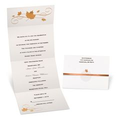 Swirling Leaves Seal and Send Wedding Invitation - Michaels