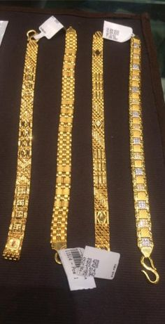New jewerly bracelets gold fashion chains Ideas Mens Gold Bracelets, Mens Gold Rings, Mens Gold Jewelry, Gold Jewelry Simple, Diamond Bracelets, Jewelry Bracelets, Gold Jewellery, Men Rings, Designer Jewellery