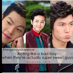 Sweethearts ... but lol did you seriously thought they were bad boys? ... in that case we don't have the same definition of bad boy xd