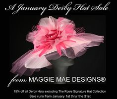January Derby Hat Sale at MAGGIE MAE DESIGNS