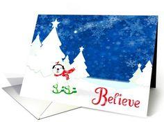 Christmas Magic Polar Bear and cardinal in... | Greeting Card Universe by Cotrone-Ramirez