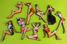 Wooden Pin Up Girls - great for jewelry making and crafting!