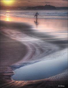 vvv charco en la orilla