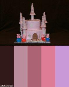 Peppa+Pig+Castle+Cake+Color+Scheme