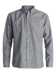 Primal Print Shirt - Quiksilver Langarm-Hemd für Männer  Primal Print Shirt Langarm-Hemd von Quiksilver. Die Eigenschaften dieses Produkts sind: Baumwolle mit Chambray-Effekt, moderne Passform und All-over Mini Motiv-Print. Dieses Produkt besteht aus: 100% Baumwolle.  Merkmale:  Langarm-Hemd, Baumwolle mit Chambray-Effekt, Moderne Passform, All-over Mini Motiv-Print, Button-Down-Kragen,  Dieses...