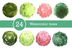 Ad: Watercolor trees set, top view by Lina_Lisichka on If you are an architect or a landscape architect of the trees in the top view will be useful for the master plan and dendroplan. These trees Landscape Plans, Green Landscape, Landscape Design, Landscape Architecture, Watercolor Architecture, Architecture Drawings, Architecture Design, Business Illustration, Pencil Illustration