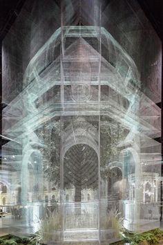 Galería de Instalación de malla de alambre recrea fragmentos arquitectónicos a escala 1:1 - 2