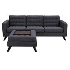 Fancy - Charcoal Gray Mina Sofa Set