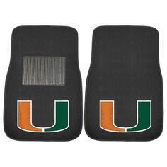 Miami Hurricanes Carpet Floor Mats