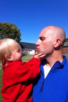One day after returning from deployment...Getting to know Daddy after only seeing him on Skype for a year.