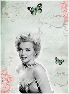 Instant Download  - Gorgeous Vintage  Marilyn Monroe -  Printable Digital Collage Sheet - - pinned by pin4etsy.com