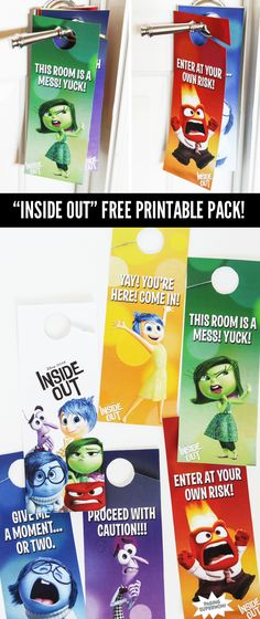 Inside Out Free Printable Pack via @PagingSupermom