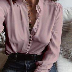 2018 Celmia Business Women Elegant Lapel Neck Long Sleeve Buttons Down Sexy Solid Party Shirt Office Work Blouse Plus Size