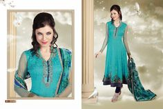 Distributor & Manufacturer of Anarkali Suits In Surat,Net Embroidered Long Anarkali Suits,Beautiful Collection Anar