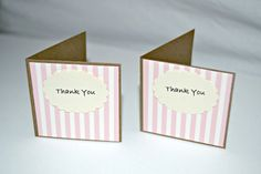 MINI Gift Cards 2x2 Thank You Scallop Tag  by MoreFriendsAndCo, $2.75