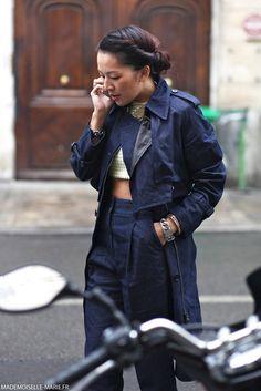 Tina Leung at Paris Fashion Week Menswear day 4