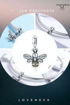 🐝Abalorio fabricado en plata de ley con envío desde España 👉Loveneck #loveneck #abalorio #charm #pandora #españa #abeja Charms Disney, Pandora Bracelet Charms, Handmade Decorations, Silver Charms, Decorative Items, Jewelery, Pin Pin, Daily Deals, Group