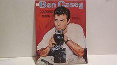 """VINTAGE 1963 """"BEN CASEY, M.D."""" POP TV SHOW OF 60s , COLORING BOOK, UNCOLORED"""