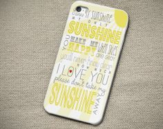 One Direction My Sunshine Lyric - iPhone 4 4S iPhone 5 5S 5C and Samsu – Out of The Case