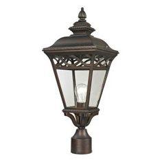 Titan Lighting Mendham 1-Light Hazelnut Bronze Outdoor Post Lantern TN-50205 at The Home Depot - Mobile