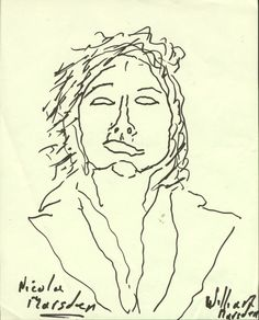 Nicola by William at Newlyn Art Gallery Big Draw with Jonathan Polkests Drawing Installation Draw Me/ Tedna Ve