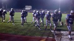Northern heads off the field at halftime of their game vs Shippensburg. - 10.19.12