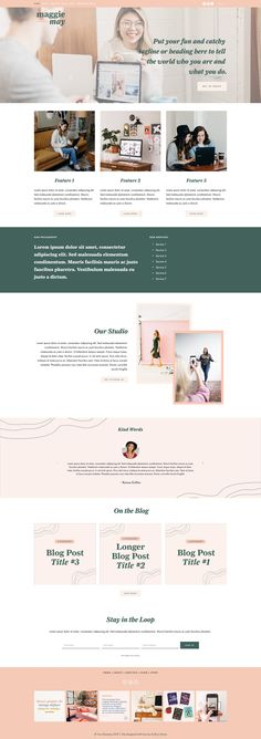 Squarespace 7.0 Template: Maggie May by And She's Brave on @creativemarket