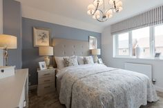 Emma - 'Duck-egg blue and neutral tones are a classic colour combination, for a calm and invitin Pale Blue Bedrooms, Blue Bedroom Colors, Blue Bedroom Decor, Bedroom Color Schemes, Home Bedroom, Colour Schemes, Dulux Bedroom Colours, Bedroom Layouts, Bedroom Styles