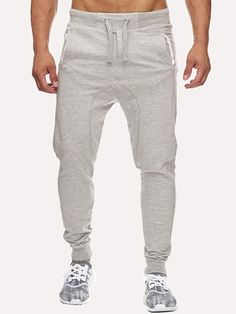 be7c06421c72 Men Drawstring Plain Sporty Pants