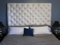 DIY Tufted Headboard: great tutorial and nicely finished product. Must try this!