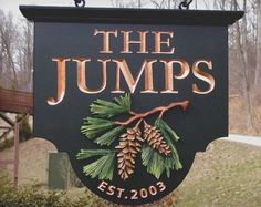 The Jumps Family Name Sign   Danthonia Designs