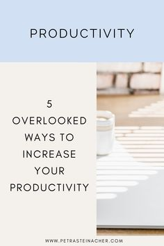 What comes to your mind when you think about increasing your productivity? Better time management? Organizing your workspace? Yes, all these things have their place when it comes to being productive. But they are useless when you don't have the energy to show up. If you feel your productivity is not where you want it to be, make sure to look at these areas. #entrepreneur #femaleentrepreneur #productivity #timemanagement #getthingsdone Organizing, Organization, Time Management Tips, Success Mindset, Online Entrepreneur, Business Advice, Cool Tools, Growing Your Business, Getting Things Done