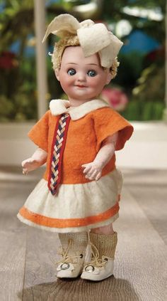 Sanctuary: A Marquis Cataloged Auction of Antique Dolls - March 19, 2016: All-Original German Bisque Googly, 323, by Marseille