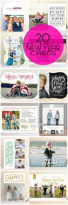 There is still time to send out cards this year and here are 20 gorgeous New Year Cards!