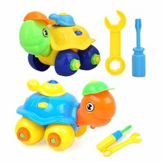 Disassembling Small Plastic Turtle Toy:  Price: $9.99 & FREE Worldwide Shipping.  Visit us and see our 300+ catalog.  We sell toys, materials and costumes with a learning purpose.  Your kids will thank you later!