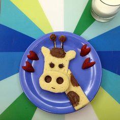 Giraffe, Kids food art, breakfast