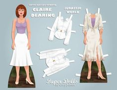 Free Jurassic World Claire Dearing Paper Doll paper dolls by Cory