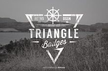 Ad: Triangle Badges by Fitra Noor on 10 Multi-purpose Triangle Badges Templates are completely editable, made in vector. Perfect to use as logo for your company business. Badge Template, Logo Templates, Design Templates, Typography Love, Graphic Design Typography, Business Brochure, Business Card Logo, Logos Ideas, Triangle Logo