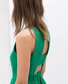 OPEN-BACK DRESS from Zara - summer wedding