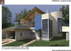 Planta de Sobrado - 3 Quartos - 265.9m² - Monte Sua Casa