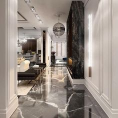 18 Luxury Entryway Decoration Ideas You Have To Know – Welcome to our gallery which displays the unique design of the entrance (porch) in luxury homes to find decorating inspiration ideas. Luxury Homes Interior, Luxury Home Decor, Luxury Apartments, Luxury Rooms, Luxury Hotels, Modern House Design, Modern Interior Design, Contemporary Design, Plafond Design