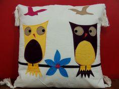 Animal pillow / Owl pillow cover / Nursery decor / kids pillow / Applique pillow cover / Felt applique pillow case/ baby shower gift on Etsy, $16.79