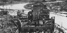 Aspecto del centro de Hiroshima tras el ataque nuclear.