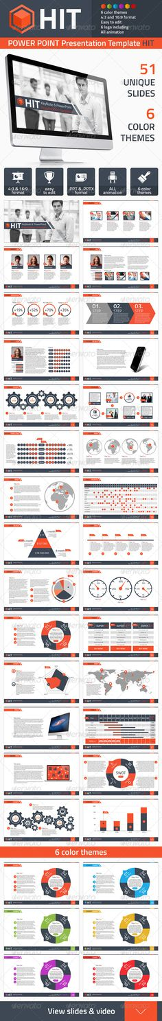 PowerPoint HIT - Powerpoint Templates Presentation Templates / #design #inspiration #infographics