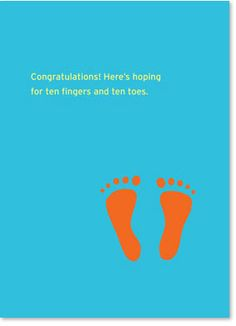 Congratulations! here's hoping for ten fingers and ten toes card