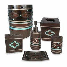 Kokopelli Rustic Southwest Wastebasket And Bath Accessories Bathroom Items Decor West By Southwestern Pinterest