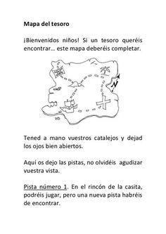 Mapa del tesoro pistas y puzle